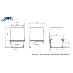 DISPENSADOR MECHA FUME AG21050 JOFEL