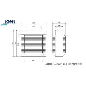 EXTERMINADOR INSECTOS T-11W INOX AJ22010 JOF