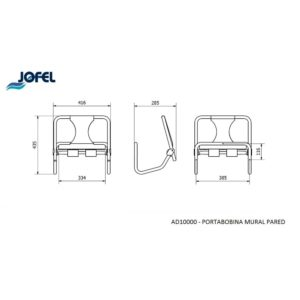 DISPENSADOR BOBINA MURAL PARED AD10000 JOFEL