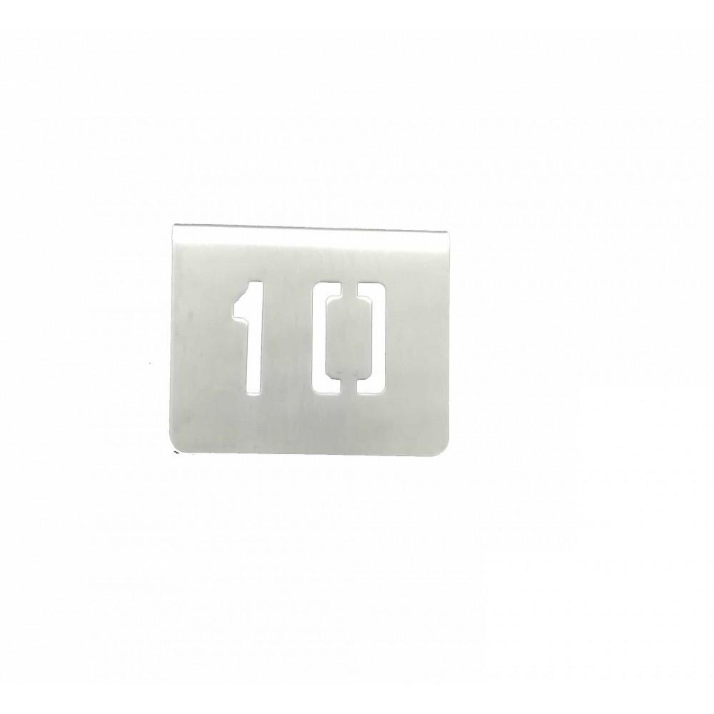 NUMERO MESA INOX Nº 10
