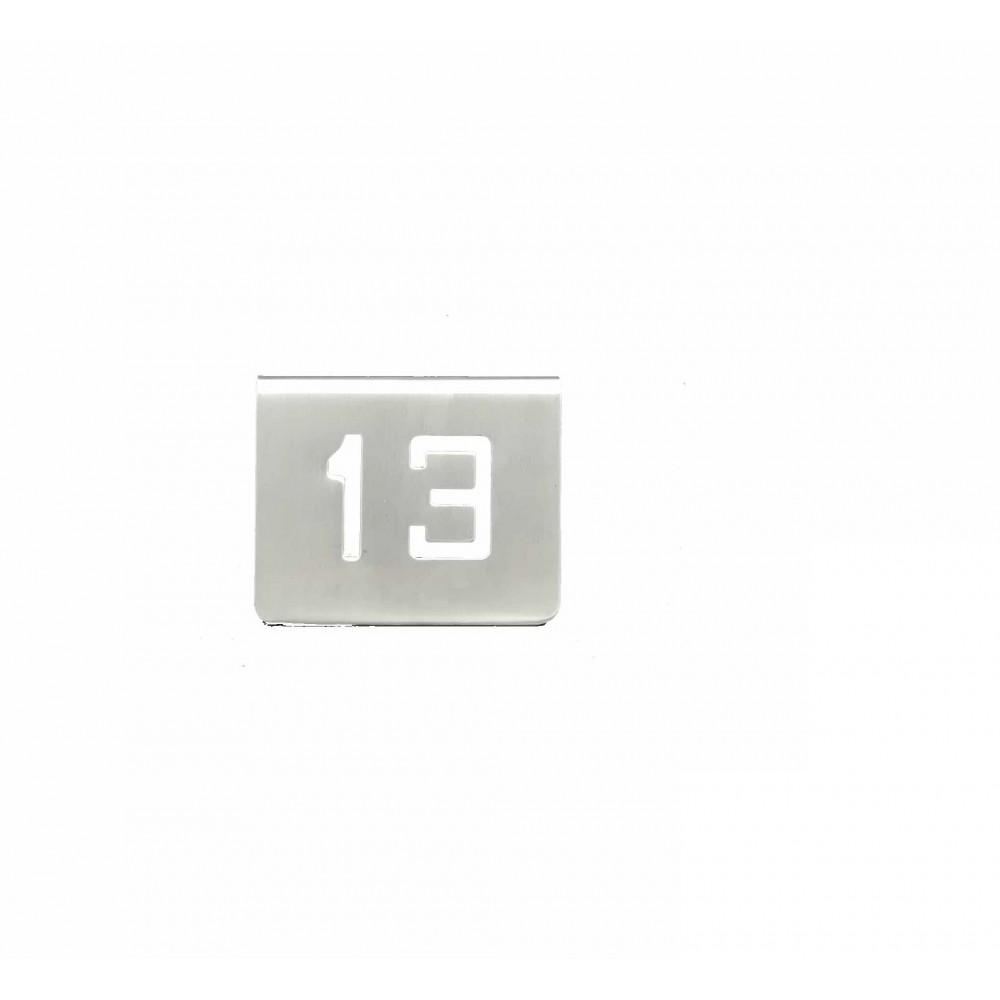 NUMERO MESA INOX Nº 13