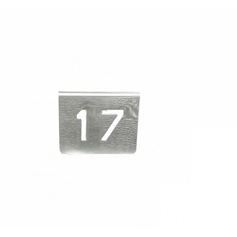 NUMERO MESA INOX Nº 17
