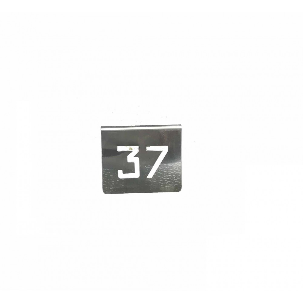 NUMERO MESA INOX Nº 37