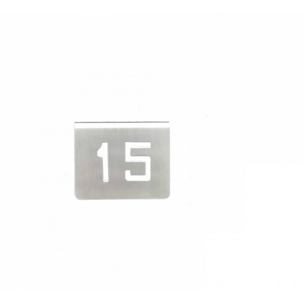 NUMERO MESA INOX Nº 15