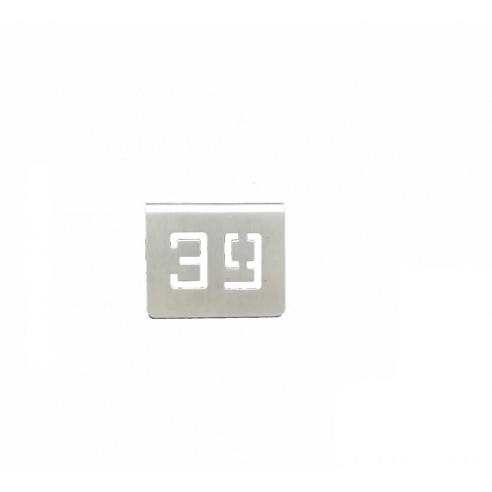NUMERO MESA INOX Nº 39