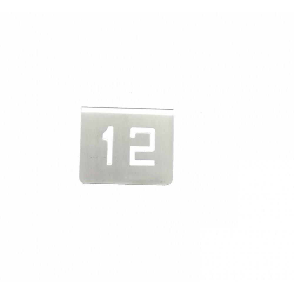 NUMERO MESA INOX Nº 12