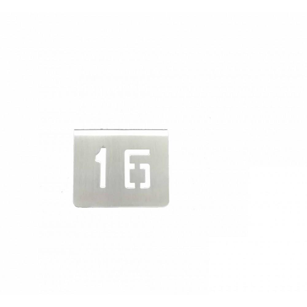 NUMERO MESA INOX Nº 16