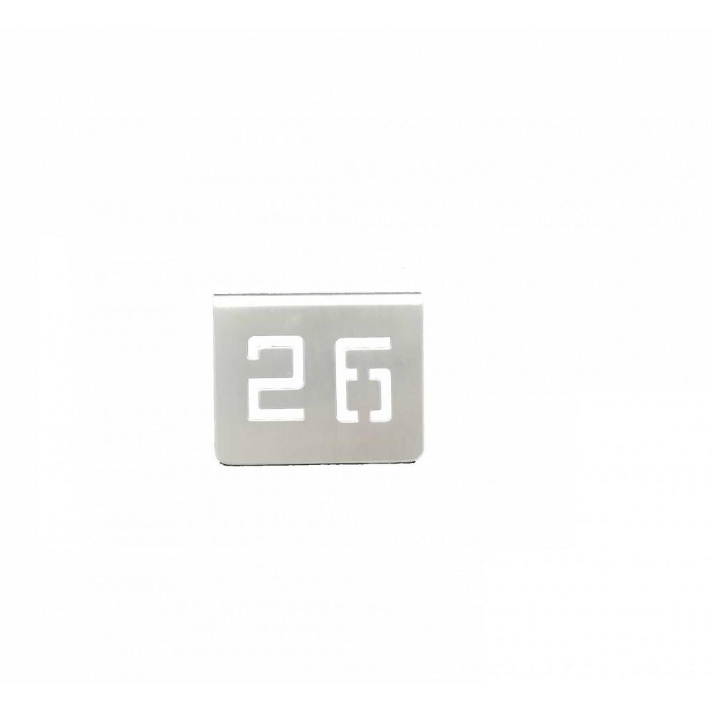 NUMERO MESA INOX Nº 26