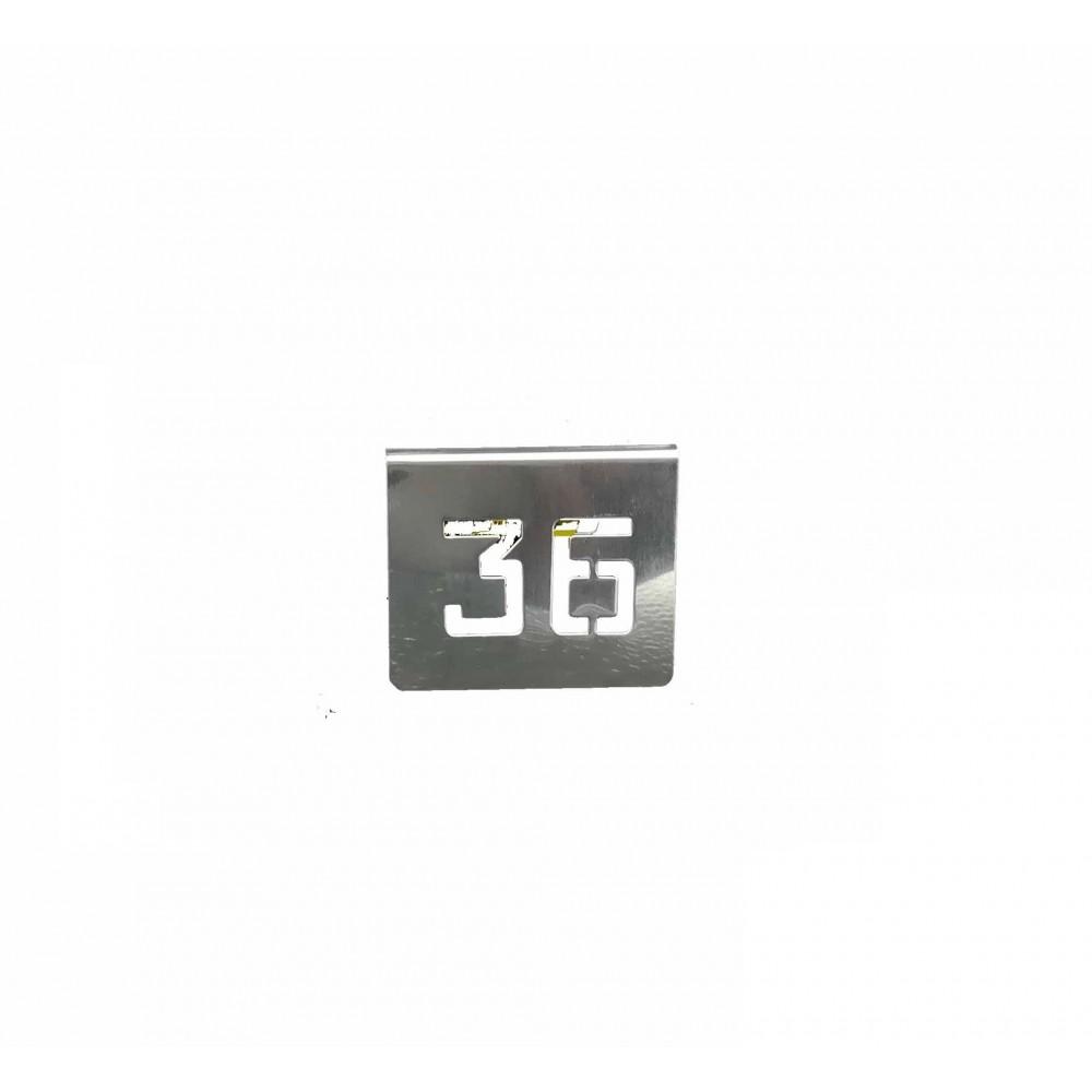 NUMERO MESA INOX Nº 36