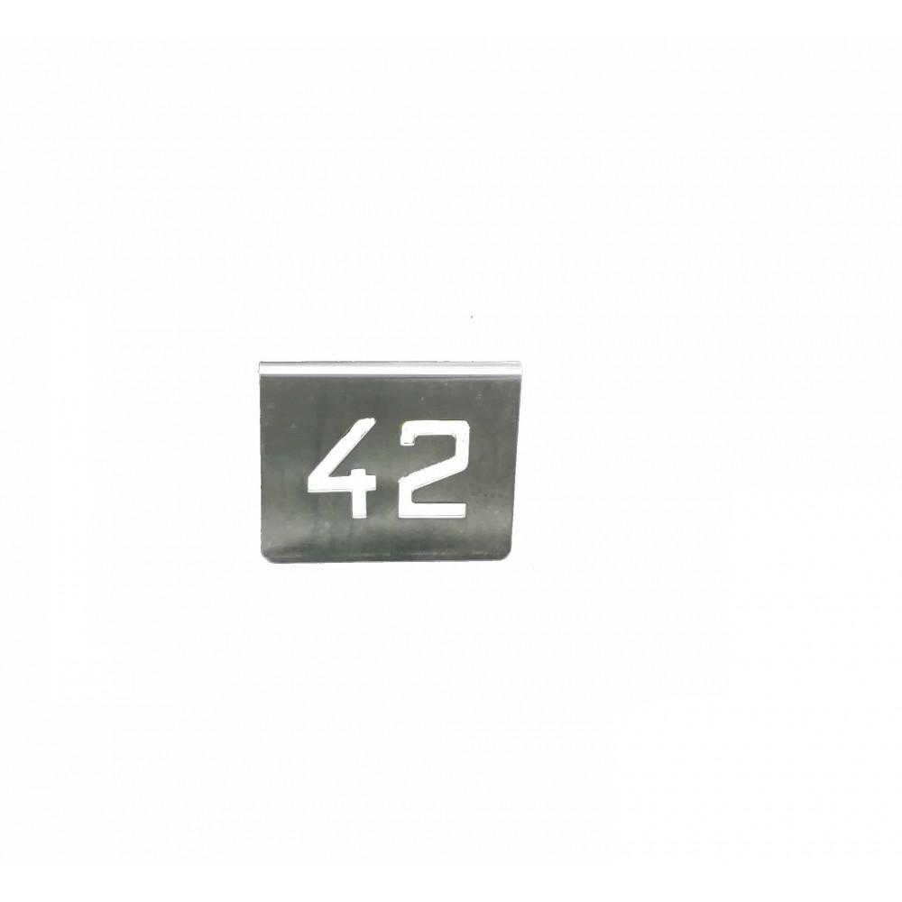 NUMERO MESA INOX Nº 42