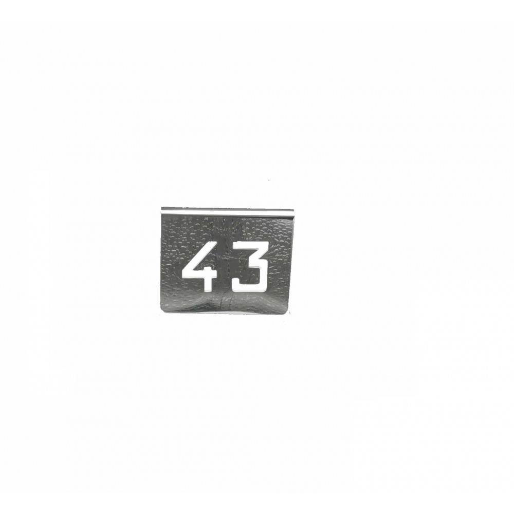 NUMERO MESA INOX Nº 43
