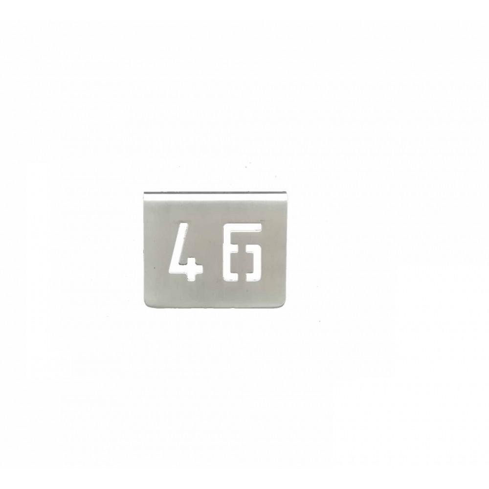 NUMERO MESA INOX Nº 46