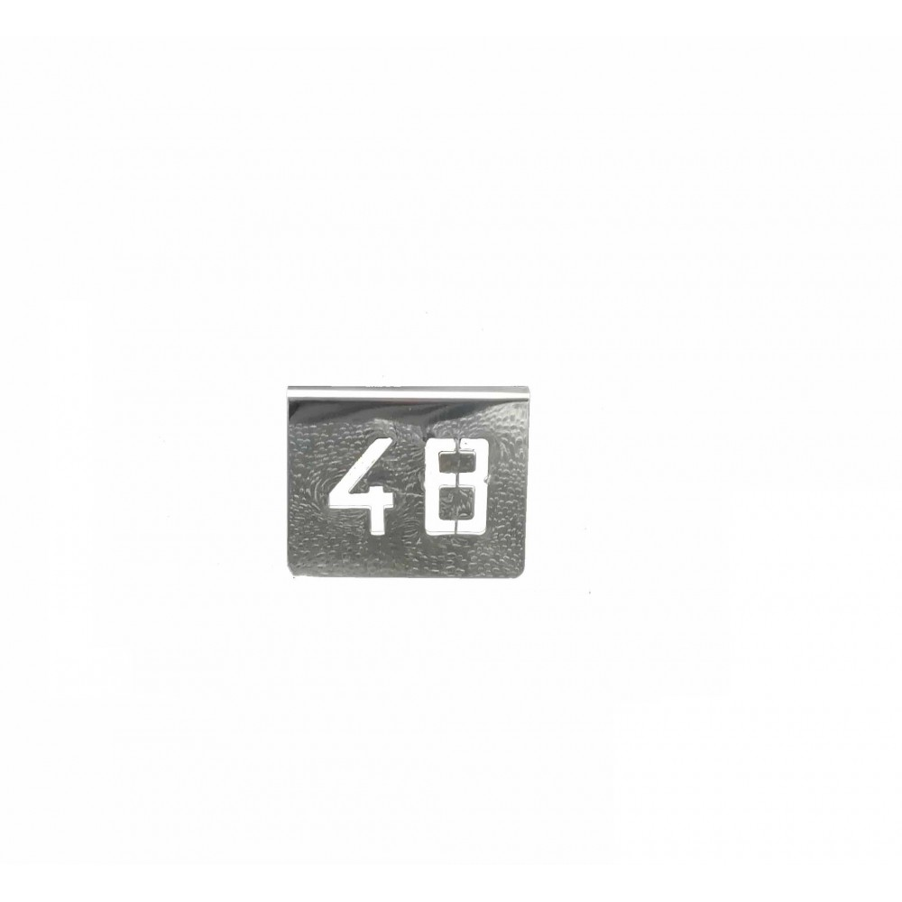 NUMERO MESA INOX Nº 48