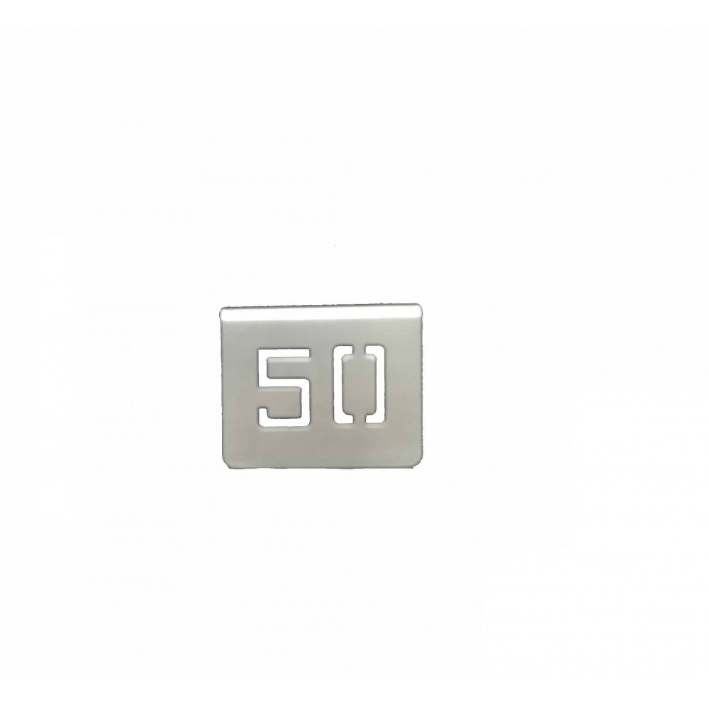 NUMERO MESA INOX Nº 50