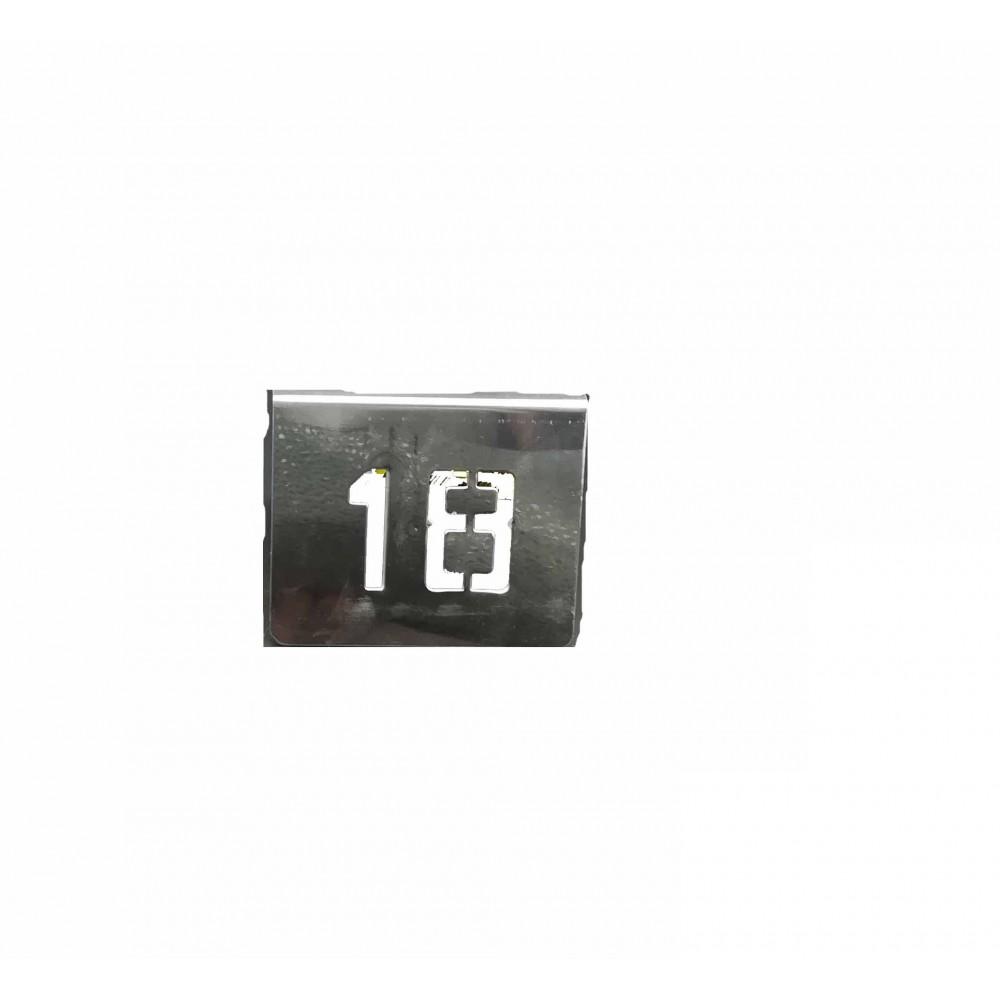 NUMERO MESA INOX Nº 18