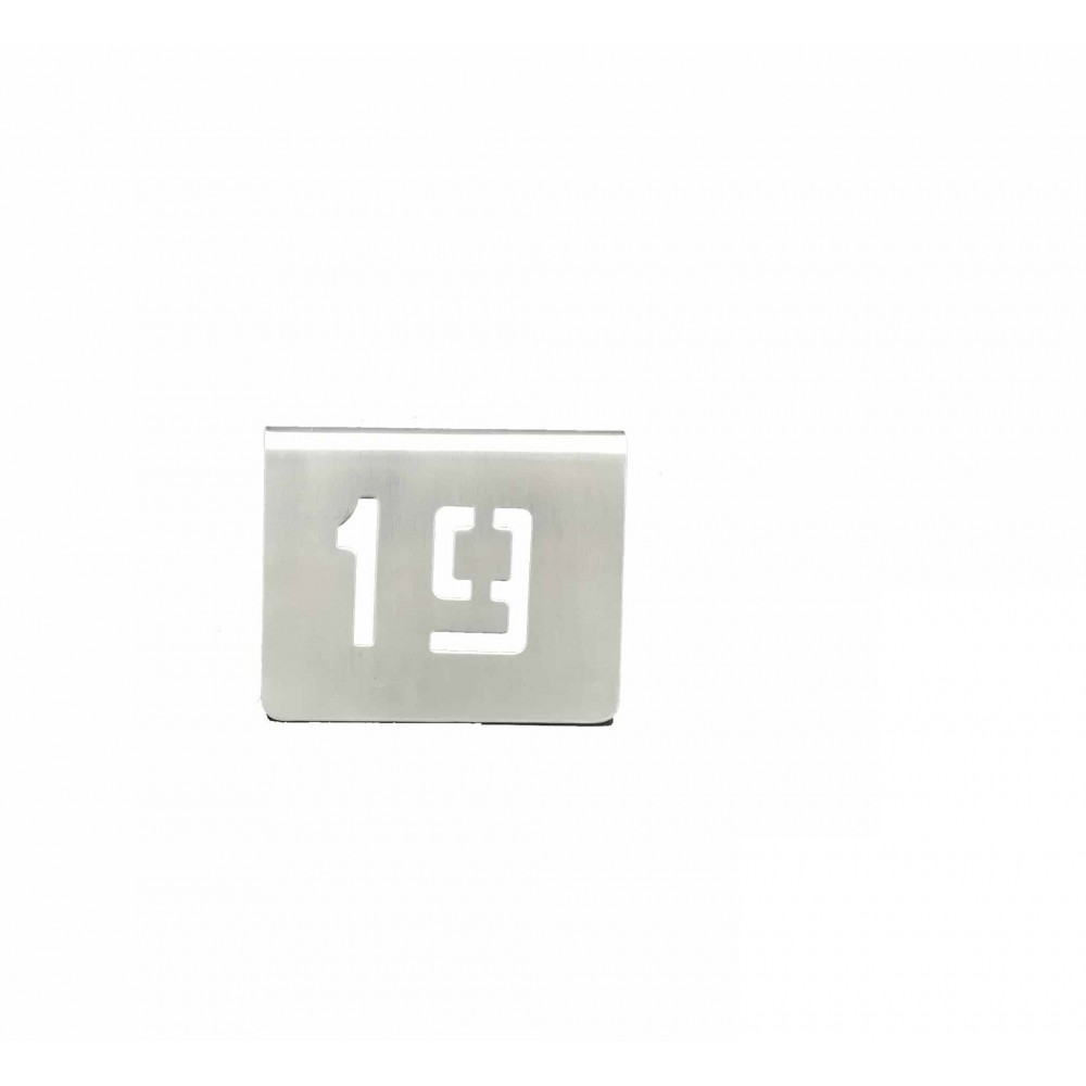 NUMERO MESA INOX Nº 19