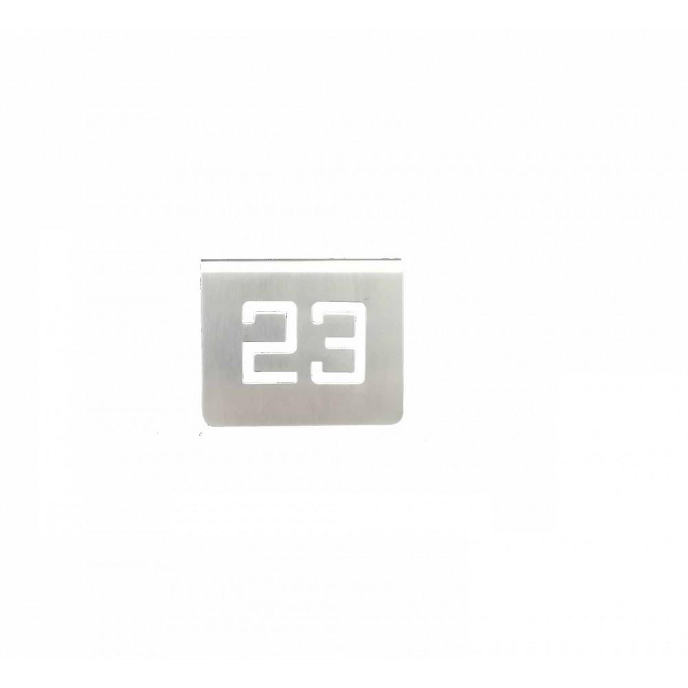 NUMERO MESA INOX Nº 23