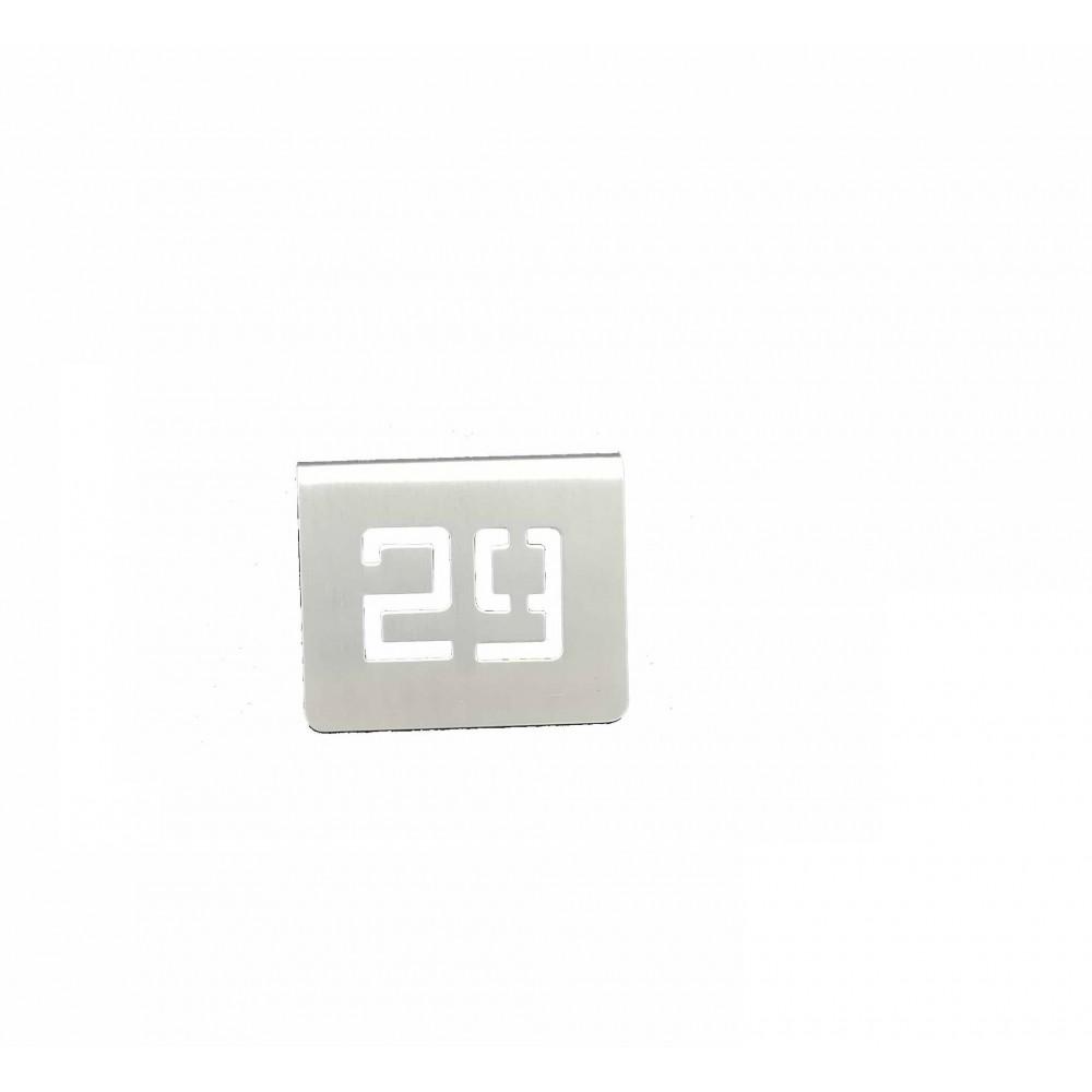 NUMERO MESA INOX Nº 29