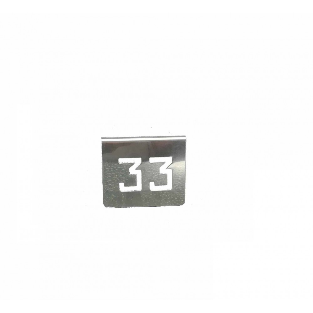 NUMERO MESA INOX Nº 33