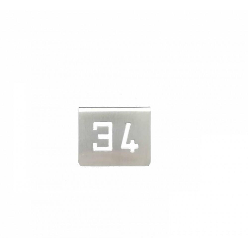 NUMERO MESA INOX Nº 34